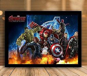 Poster com Moldura - Vingadores A Era de Ultron