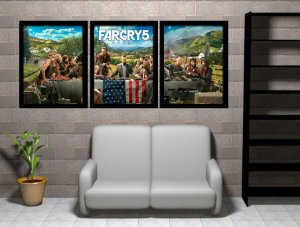 Kit 03 Quadros Decorativos Far Cry 5