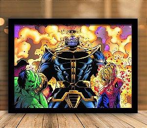 Poster com Moldura - A Ira de Thanos