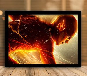 Poster com Moldura - The Flash
