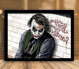 Poster com Moldura - Coringa Heath Ledger