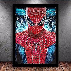 Poster com Moldura - Homem Aranha
