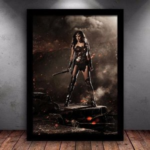 Poster com Moldura - Mulher Maravilha Cinema Version