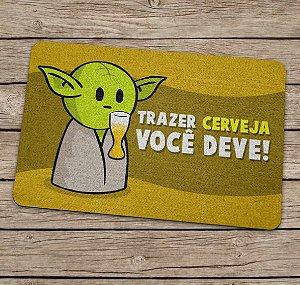 Tapete Capacho Mestre Yoda Star Wars Cerveja
