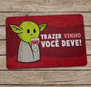 Tapete Capacho Mestre Yoda Star Wars Vinho