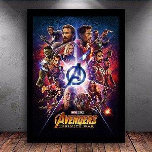 Poster com Moldura - Vingadores Guerra Infinita