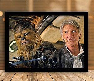 Poster com Moldura - Han Solo & Chewbacca