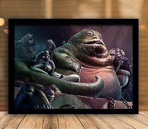 Poster com Moldura - Jabba the Hutt