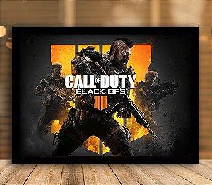 Poster com Moldura - Call Of Duty Black Ops 4