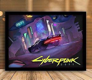 Poster com Moldura - Cyberpunk 2077