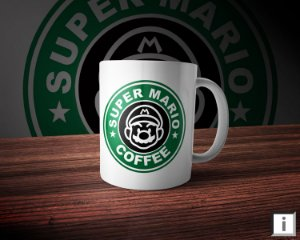 Caneca Linha Coffee - Super Mario