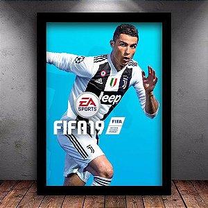 Poster com Moldura - Fifa 19 Cristiano Ronaldo