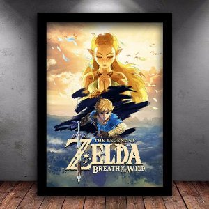 Poster com Moldura - Zelda Breath Of The Wild