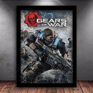 Poster com Moldura - Gears Of War