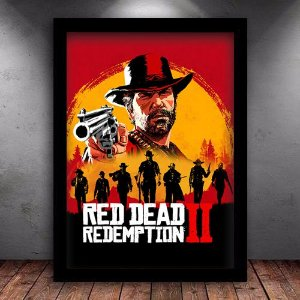 Poster com Moldura - Red Dead Redemption 2 Mo.3