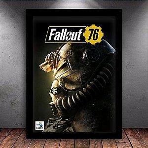Poster com Moldura - Fallout 76 Power