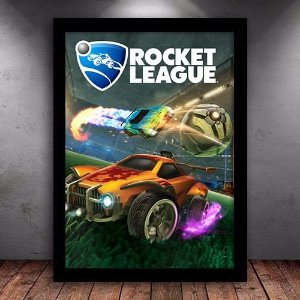 Poster com Moldura - Rocket League