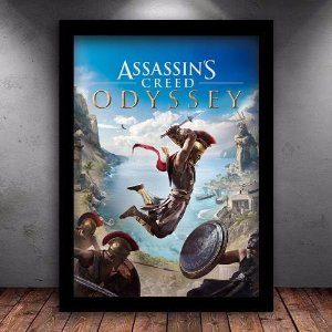 Poster com Moldura - Assassins Creed Odyssey