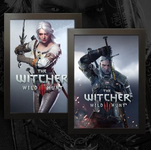 Kit Promocional - 02 Quadros The Witcher 3