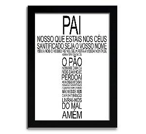 Poster com Moldura - Oração Pai Nosso Tipográfica