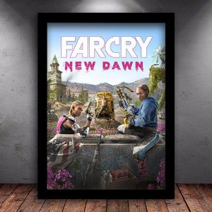 Poster com Moldura - Far Cry New Dawn