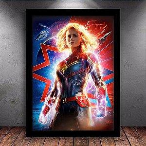 Poster com Moldura - Capitã Marvel