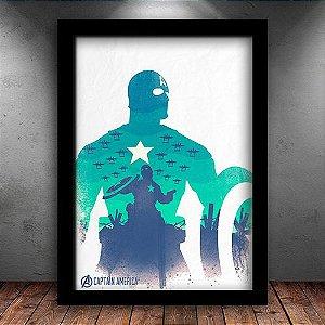 Poster com Moldura - Capitão América Vingadores