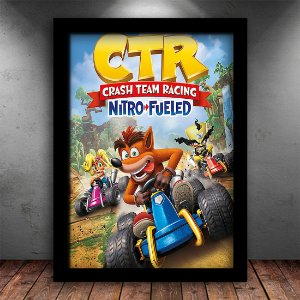 Poster com Moldura - Crash Kart Nitro Fueled