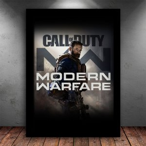 Poster com Moldura - Call Of Duty Mordern Warfare 2019