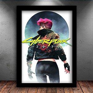 Poster com Moldura - Cyberpunk
