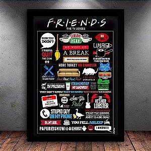 Poster com Moldura - Friends