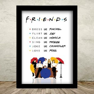 Poster com Moldura - Friends Like
