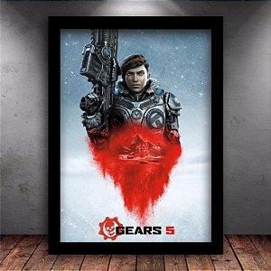 Poster com Moldura - Gears Of War 5