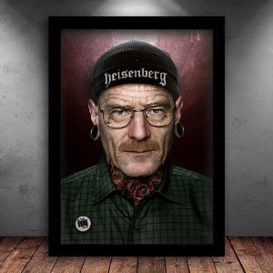 Poster com Moldura - Breaking Bad Tattoo Walter White