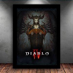 Poster com Moldura - Diablo 4