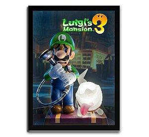 Poster com Moldura - Luigi's Mansion