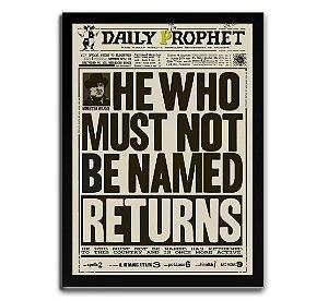 Poster com Moldura - Daily Diario Harry Potter Voldemort