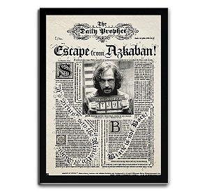 Poster com Moldura - Daily Diario Harry Potter Sirius Black