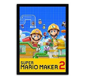 Poster com Moldura - Super Mario Maker 2