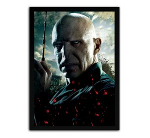Poster com Moldura - Harry Potter Lord Voldemort