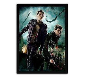 Poster com Moldura - Harry Potter Fred e Jorge Weasley