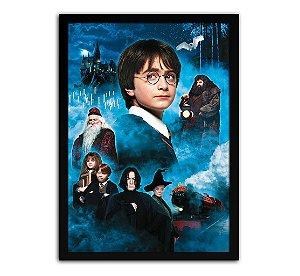 Poster com Moldura - Harry Potter E A Pedra Filosofal