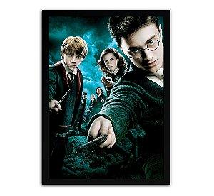 Poster com Moldura - Harry Potter E A Ordem Da Fenix