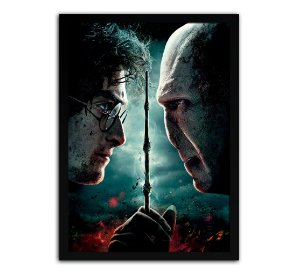 Poster com Moldura - Harry Potter Vs Lord Voldemort