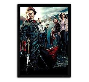 Poster com Moldura - Harry Potter E O Cálice De Fogo