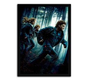 Poster com Moldura - Harry Potter E As Relíquias Da Morte 2