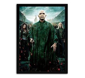 Poster com Moldura - Harry Potter Lord Voldemort Mo.3