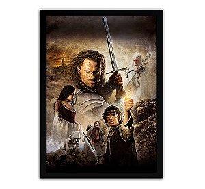Poster com Moldura - Senhor Dos Anéis O Retorno Do Rei