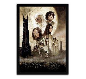 Poster com Moldura - Senhor Dos Anéis As Duas Torres