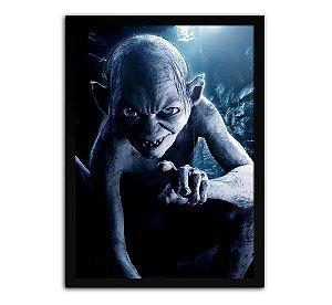 Poster com Moldura - Senhor Dos Anéis Smeagol